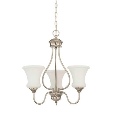 Freeborn 3-Light Mini Chandelier Finish: Nickel
