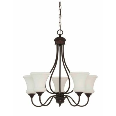 Freeborn 5-Light Candle-Style Chandelier Finish: Bronze
