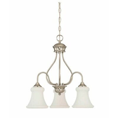 Freeborn Down 3-Light Mini Chandelier Finish: Nickel