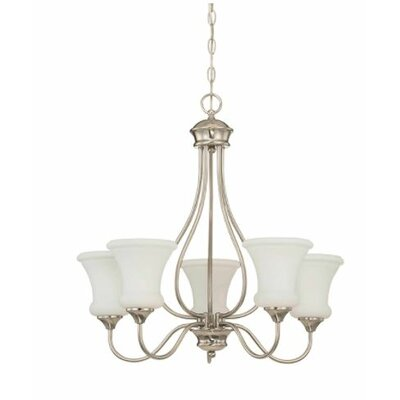 Freeborn 5-Light Candle-Style Chandelier Finish: Nickel