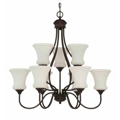 Freeborn 9-Light Candle-Style Chandelier Finish: Bronze