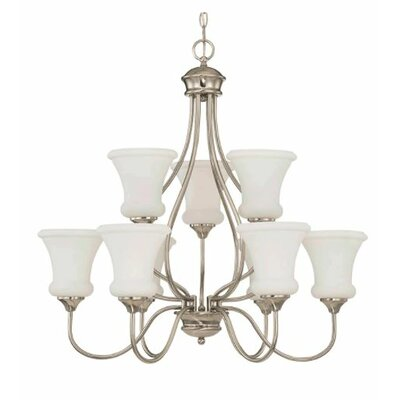 Freeborn 9-Light Candle-Style Chandelier Finish: Nickel