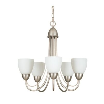Callicoat 5-Light Candle-Style Chandelier Finish: Nickel