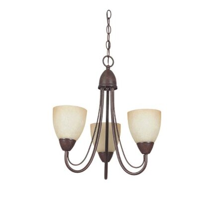 Ayward 3-Light Mini Chandelier Finish: Bronze
