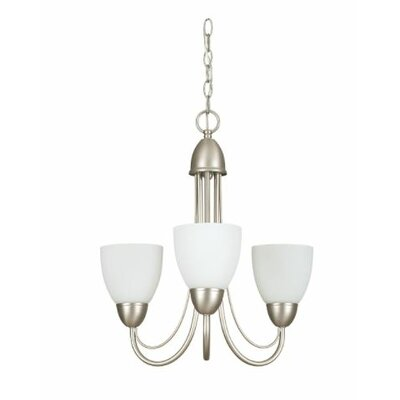 Callie 3-Light Mini Chandelier Finish: Nickel