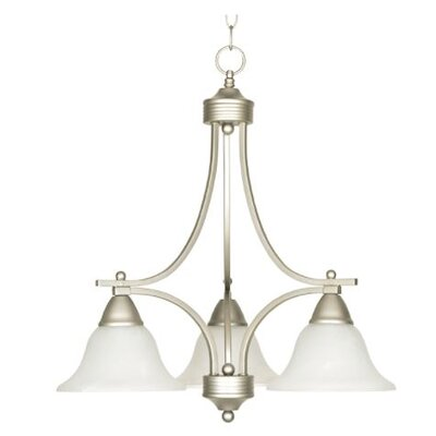 Callison Alabaster 3-Light Mini Chandelier Finish: Nickel