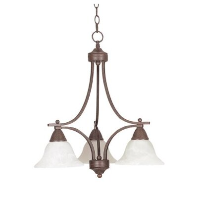 Callison Alabaster 3-Light Mini Chandelier Finish: Bronze