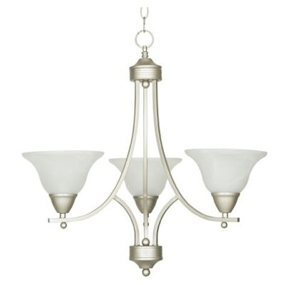 Calloway 3-Light Mini Chandelier Finish: Nickel