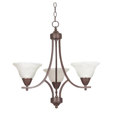 Calloway 3-Light Mini Chandelier Finish: Bronze