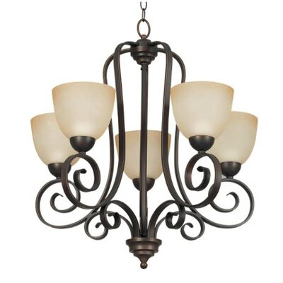 Buckland 5-Light Candle-Style Chandelier