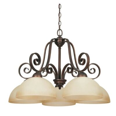 Buckland Down 5-Light Candle-Style Chandelier