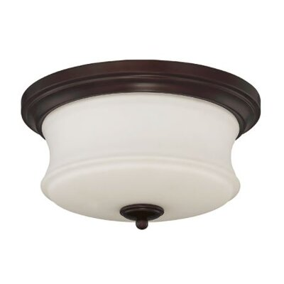 Arnos 2-Light Flush Mount Fixture Finish: Bronze