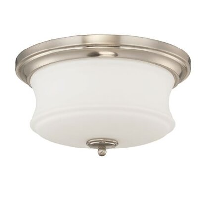 Arnos 2-Light Flush Mount Fixture Finish: Nickel