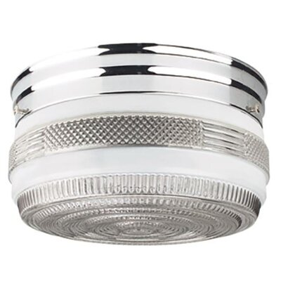 Alongi 2-Light Flush Mount Fixture Finish: Polished Chrome, Size: 8 H x 6.25 W x 6.25 D