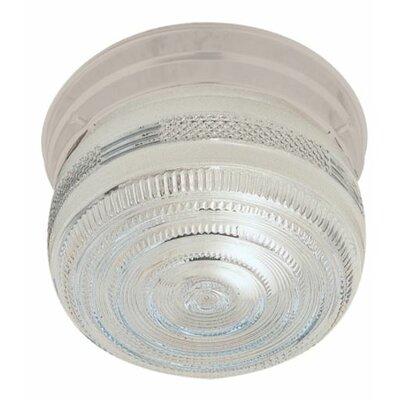 Alongi 2-Light Flush Mount Fixture Finish: White, Size: 8 H x 6.25 W x 6.25 D