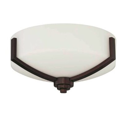 Arrington 2-Light Flush Mount Fixture Finish: Bronze, Shade Color: White