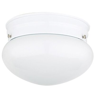 Eldorado 2-Light Flush Mount Fixture Finish: White, Size: 6 H x 7.5 W x 7.5 D