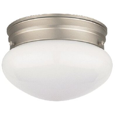 Eldorado 2-Light Flush Mount Fixture Finish: Satin Nickel, Size: 6 H x 9.5 W x 9.5 D