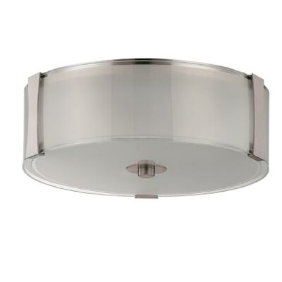 Jolin 2-Light Flush Mount Size: 4.75 H x 14 W x 14 D