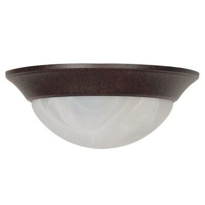 Soroka 2-Light Flush Mount Fixture Finish: Rubbed Bronze