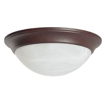 Siano 2-Light Flush Mount Fixture Finish: Rubbed Bronze, Size: 4 H x 16 W x 16 D