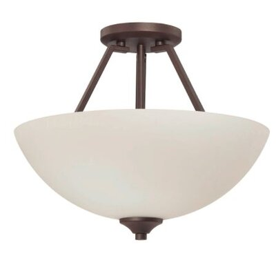 Wortham 2-Light Semi Flush Mount