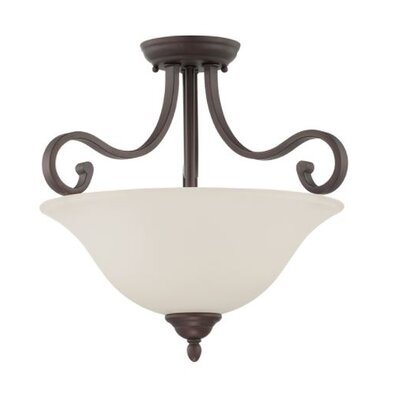 Bublitz 2-Light Semi Flush Mount Fixture Finish: Bronze