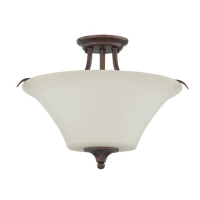 Fiala 2-Light Semi Flush Mount Fixture Finish: Bronze
