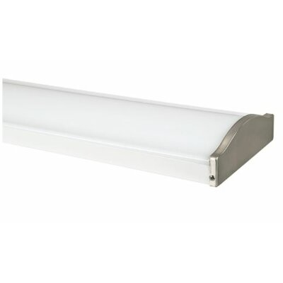 Designer Wrap Troffer High Bay Finish: Satin Nickel