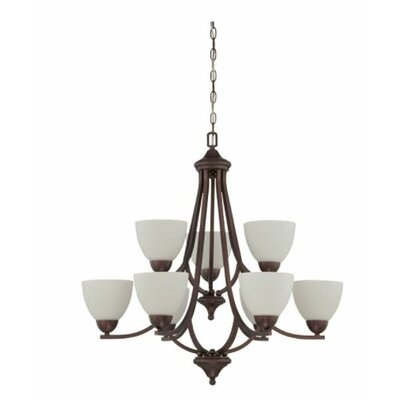 Fenton 9-Light Candle-Style Chandelier Finish: Bronze