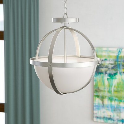 Haworth 2-Light Bowl Pendant Finish: Brushed Nickel