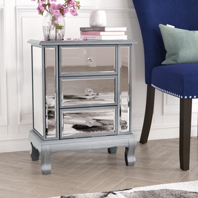 Rothman End Table with Storage Finish: Silver