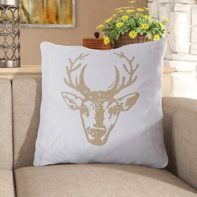Krysta Deer 100% Cotton Throw Pillow