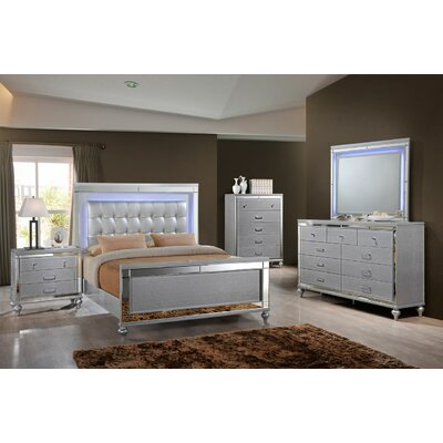 Katalina Sleigh 6 Piece Bedroom Set Bed size: Queen