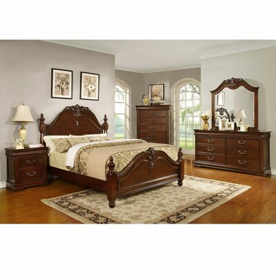 Rameriz Sleigh 4 Piece Bedroom Set Bed size: King
