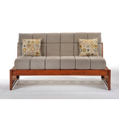 Daigle Full/Double Daybed Color (Frame/Headboard): Cherry/Dark Gray