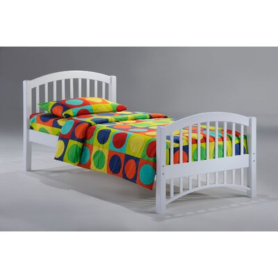 Dupras Myrick Twin Bed Frame Color: White