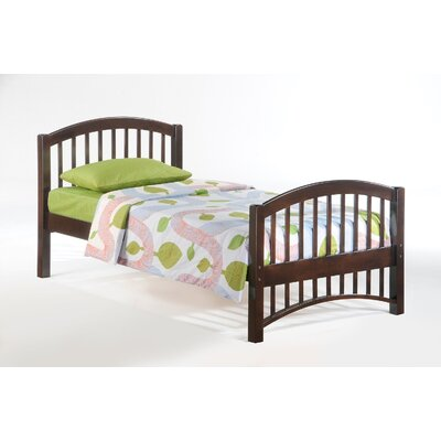 Dupras Myrick Twin Bed Frame Color: Chocolate