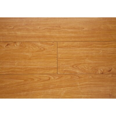 6.5 x 48 x 12mm Oak Laminate Flooring in Natural Cherry