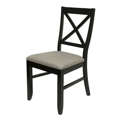 Figueiredo Dining Chair Frame Color: Black