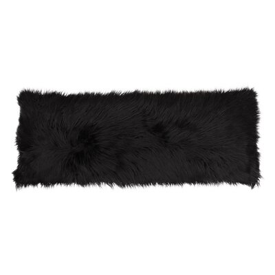 Hartt Mongolian Faux Fur Throw Pillow Color: Jet Black