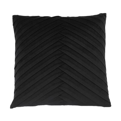 Hartsock Pleated Throw Pillow Color: Jet Black
