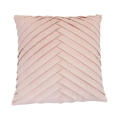 Hartsock Pleated Throw Pillow Color: Rose Smoke