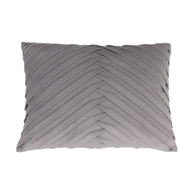 Hartsock Pleated Throw Pillow Color: Vapor