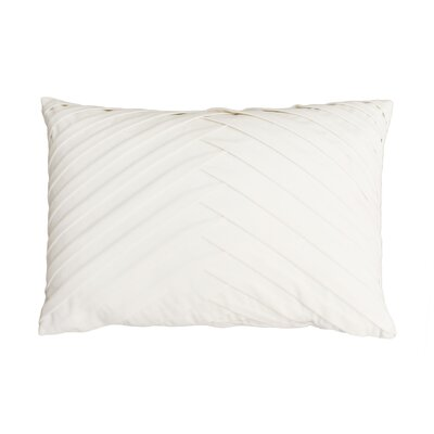 Hartsock Pleated Throw Pillow Color: Egret