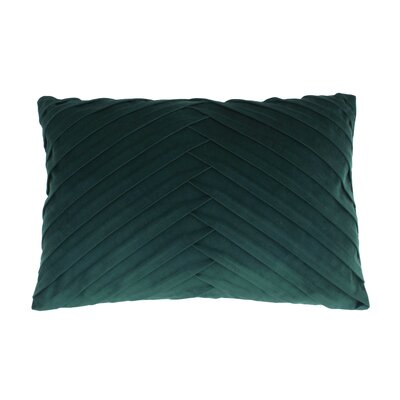 Hartsock Pleated Throw Pillow Color: Eden