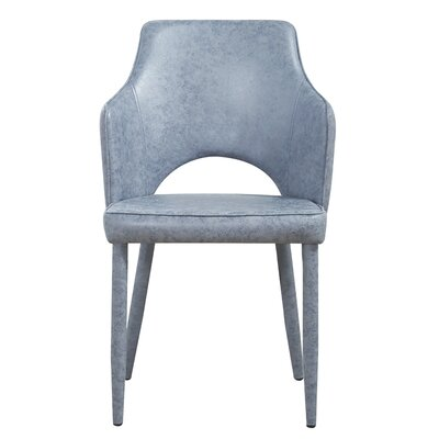 Hartwig Upholstered Dining Chair Upholstery Color: Gray