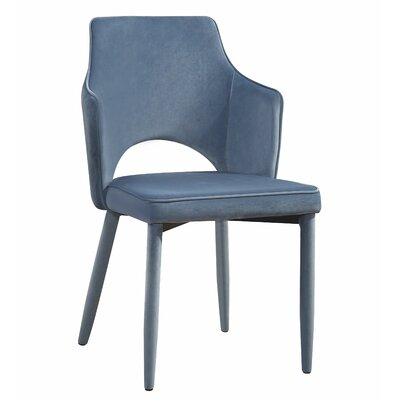 Hartwig Upholstered Dining Chair Upholstery Color: Blue