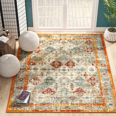 Hartell Stain Resistant Beige Area Rug Rug Size: Rectangle 9 x 12