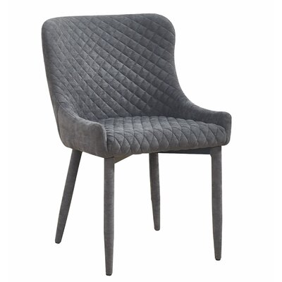 Diantha Upholstered Dining Chair Upholstery Color: Gray